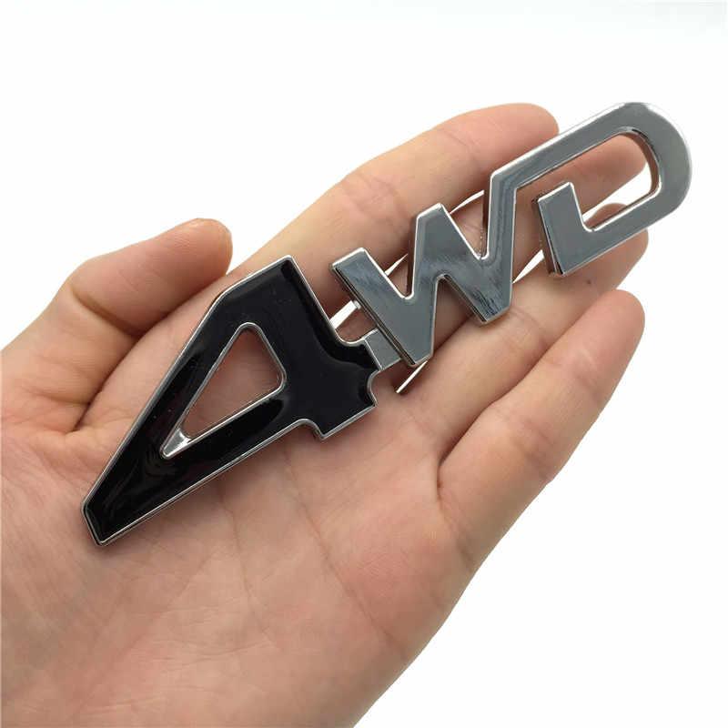 Car Styling 3D Chrome metalowe naklejki 4WD godło 4X4 odznaka naklejka dla Suzuki Grand Vitara Swift SX4 Jimny honda CRV Accord Civic