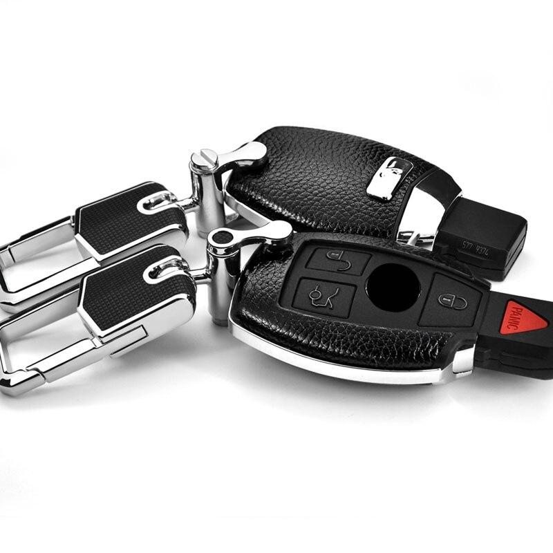 For  Mercedes-Benz car key bag C-class GLC260 CLA GLA200 GLE320 GLS400 S-class leather key bag buckle key case