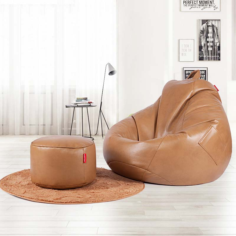 Peachy Us 147 56 38 Off Chpermore Pu Leather Bean Bag Lazy Sofa Comfortable Living Room Leisure Bean Bag Sofa Tatami Multifunction Chair Stools Ottoman In Pabps2019 Chair Design Images Pabps2019Com