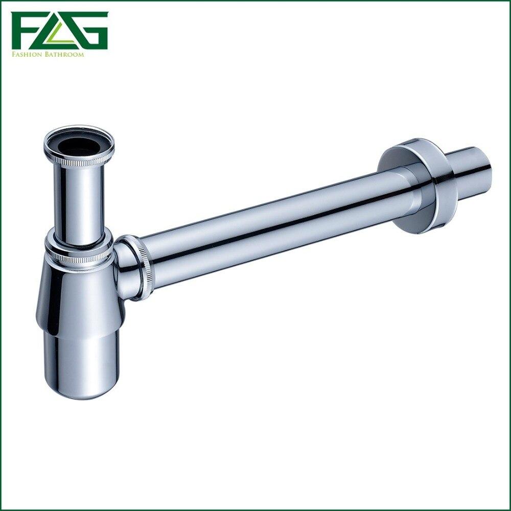 flg brass bottle trap bathroom sink vanity basin pipe waste drain pipe