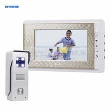 DIYSECUR 7″ Wired Video Doorbell Intercom Home Security 700TVL Camera Fashionable Monitor