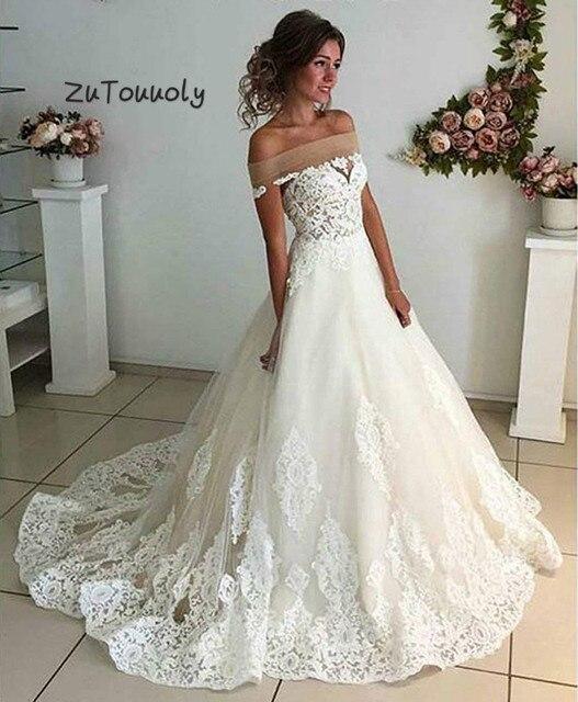 6c352c81671d Vestido De Novia bohemio económico con escote Bateau, apliques Aline, boda  jardín campo Vintage