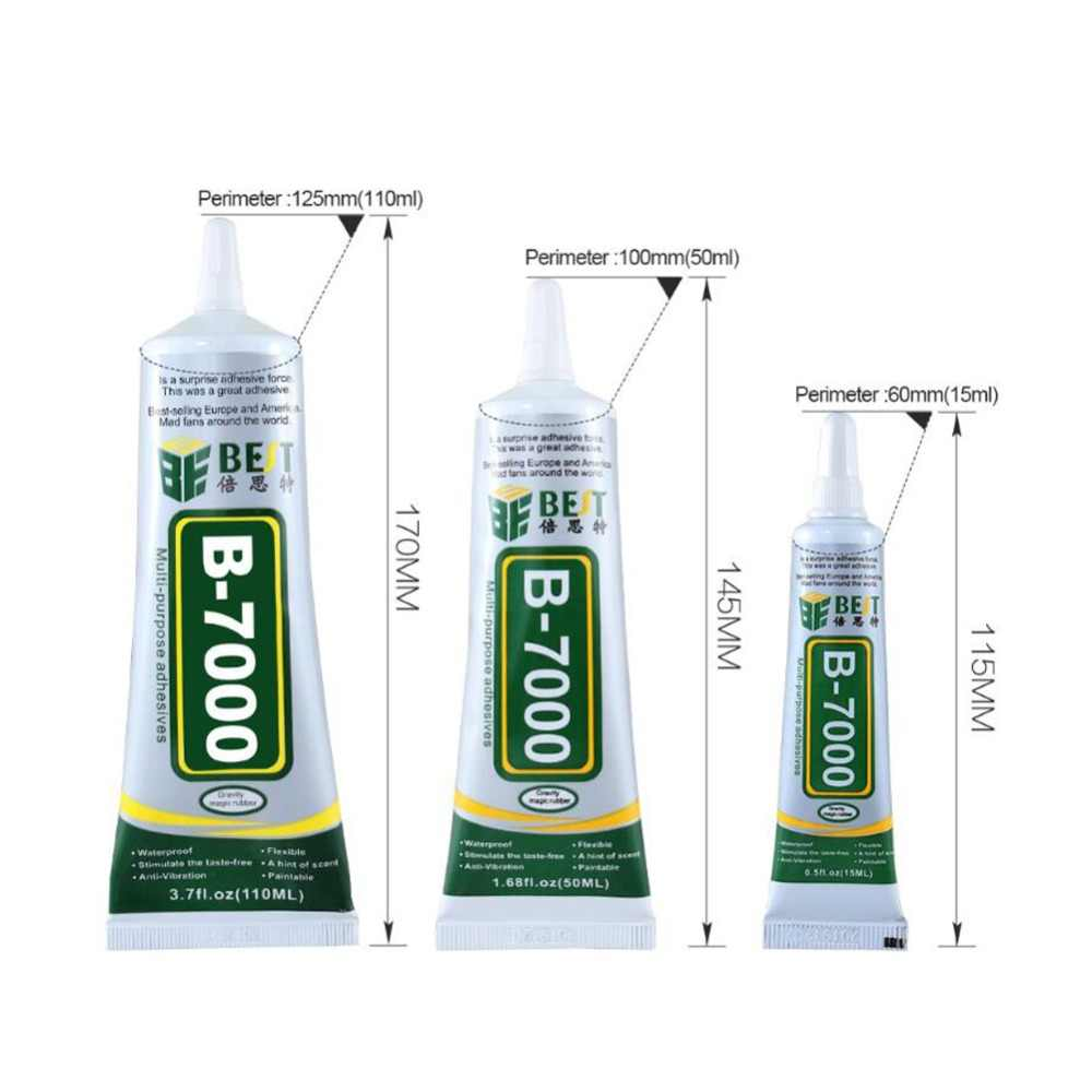 1Pc B-7000 Glue Adhesive Epoxy Resin DIY Crafts Cell Phone Frame Fix Touch Screen Glass Glue Multi Purpose Industrial Adhesive