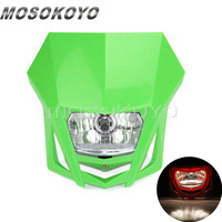 MX Enduro Headlight Pit Dirt Bike Front Lights for Kawasaki KLX150 KX65 KX85 Dual Sport Head Light