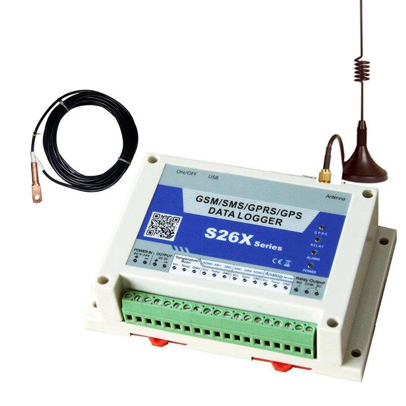 Регистратор данных GSM Температура AC/DC Мощность мониторинга состояния тревоги и запись Системы с Температура Сенсор DS18B20