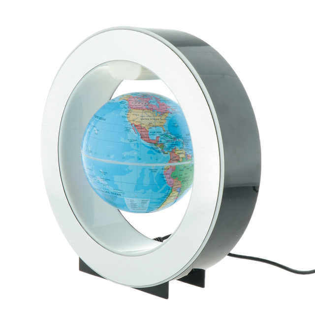 Decorative LED Light Levitation Floating World Map  3