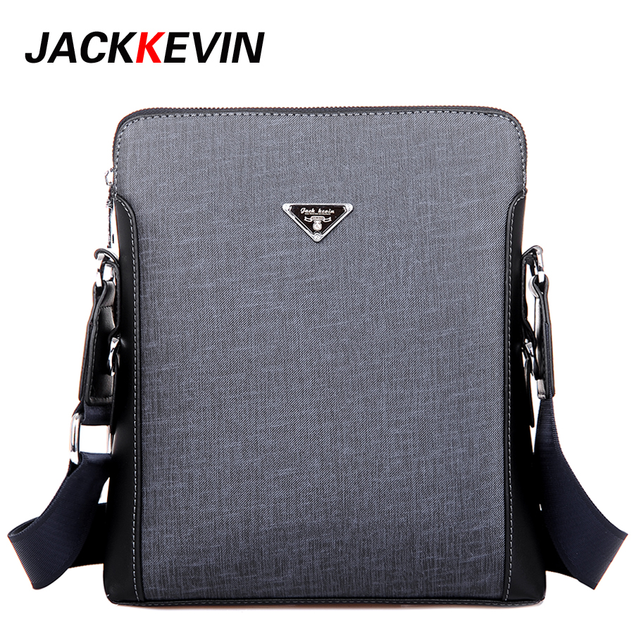 JackKevin 2017 Men Fashion PU Leather Shoulder Bag Men s Messenger Business Handbags High Quality Men