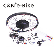 70km/h hub motor 48v 1500w electric bike conversion kit with TFT display