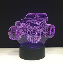 Cartoon Buggy SUV LED 3D NightLight Acrylic Night Lamp Light Luminary With Touch And Remote Lamps Lights Kids Decoration Mylamp