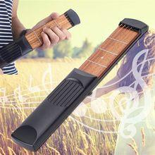 Портативная карманная гитара 6 ладов модель деревянная практика 6 струн гитарный тренажер инструмент гаджет для начинающих Игрушка музыкальный инструмент