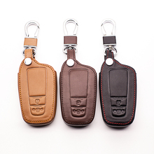 Купить с кэшбэком 2017 Latest 100% Genuine Leather Car key cover Skin case set Fit for Toyota 2 buttons remote control protect shell starline a91