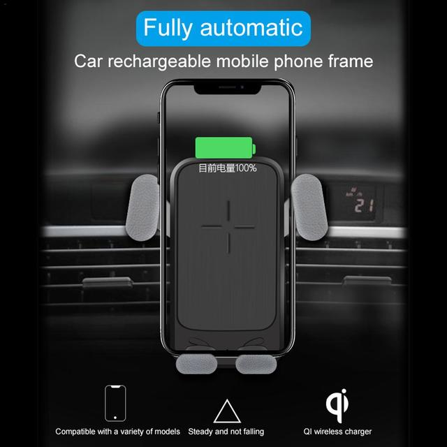 0daaae5fcc3 New Arrival Z061 10W Fast QI Wireless Charger Car Mount Gravity cargador  inalambrico with Mobile Phone Holder qi charger