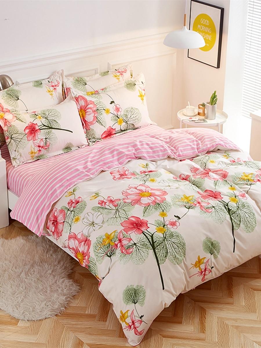 4 Pcs Bedclothes Set Pastoral Style Vivid Floral Soft Home Bedding Set 4 Pcs Bedclothes Set Pastoral Style Vivid Floral Soft Home Bedding Set