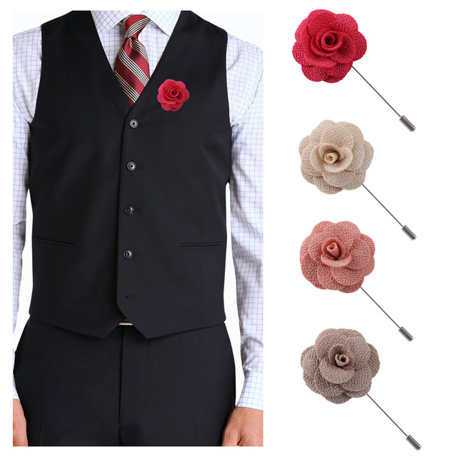 Camellia Flower Lapel Pin - Handmade flower brooch pins for men's and women's suits 4