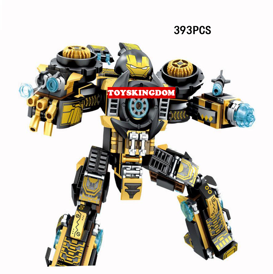 Hot Super Heroes Ironman Shades 2in1 Dinosaur Lepins Building Block Model Tony Stark Mark23 Figures Bricks Toys Collection hot fast furious speed championships building block racing driver figures super sports car lepins model bricks toy for kids gift