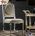 Italian style dining room furniture-hand carving leaf gilding chair  Antique furnitures