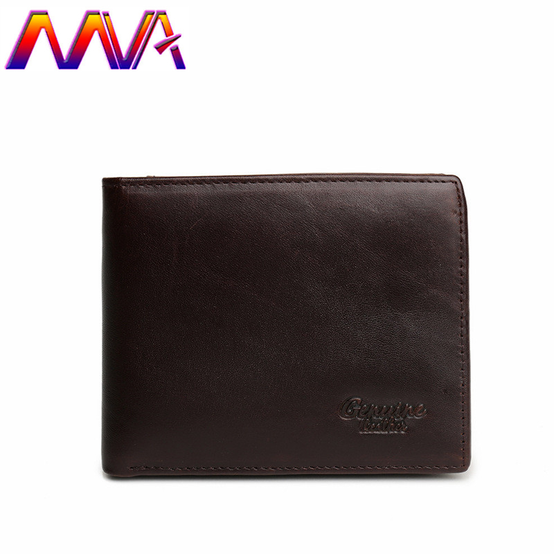 HENGSHENG cow leather men wallet with quality genuine leather short men wallet for fashion business men cross wallet
