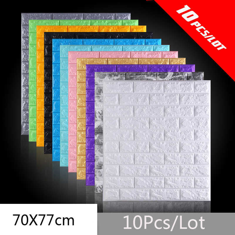 Diy Self Adhesive Waterproof Brick Wallpapers 3d Tv Background Living Room Wallpaper Mural Bedroom Decorative 3d Wall Sticker