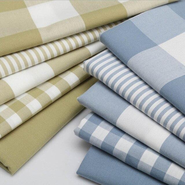 US $8 14 41% OFF|High Quality Cotton Linen Plaid Stripe Fabric For Handmade  Hometextile Fabric Cloth Sofa Curtain Bag Cushion Tablecloth Material-in