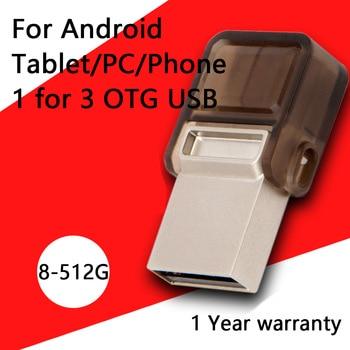 Pen Drive Otg Usb Flash Drive 16GB Pen Drives 32GB Micro VPendrive Smart Phone Micro Usb Otg Flash Drive 64GB 128GB 512GB 2.0
