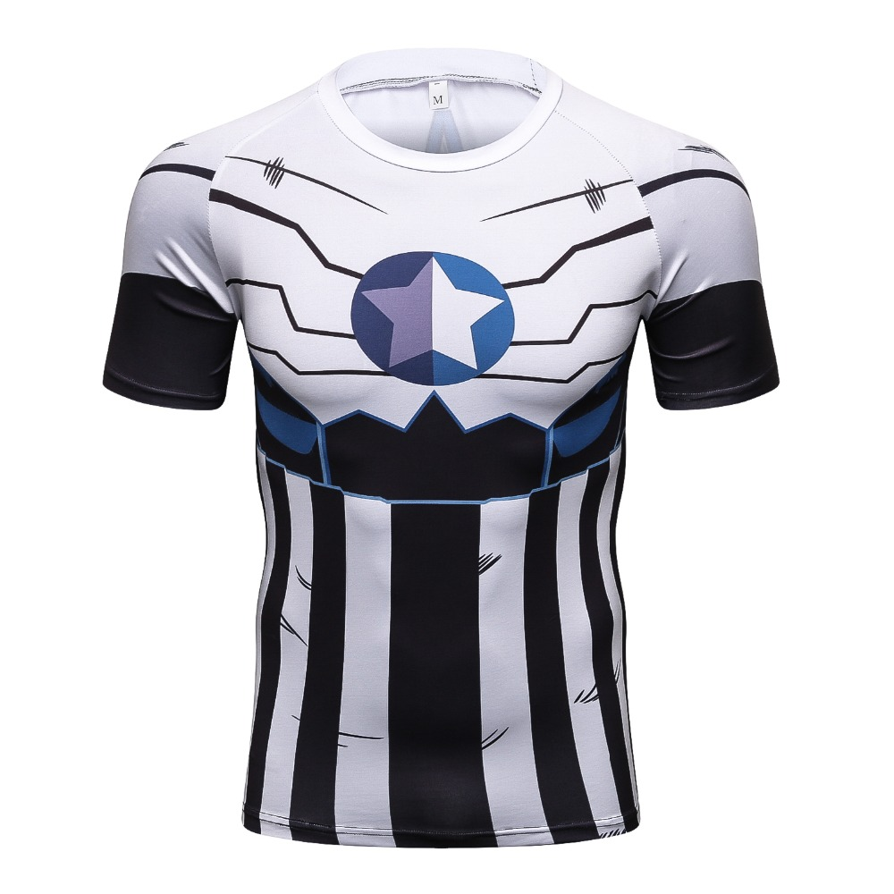 Men/'s Marvel Captain America Avengers Endgame T-Shirt 3D Compression Round Neck