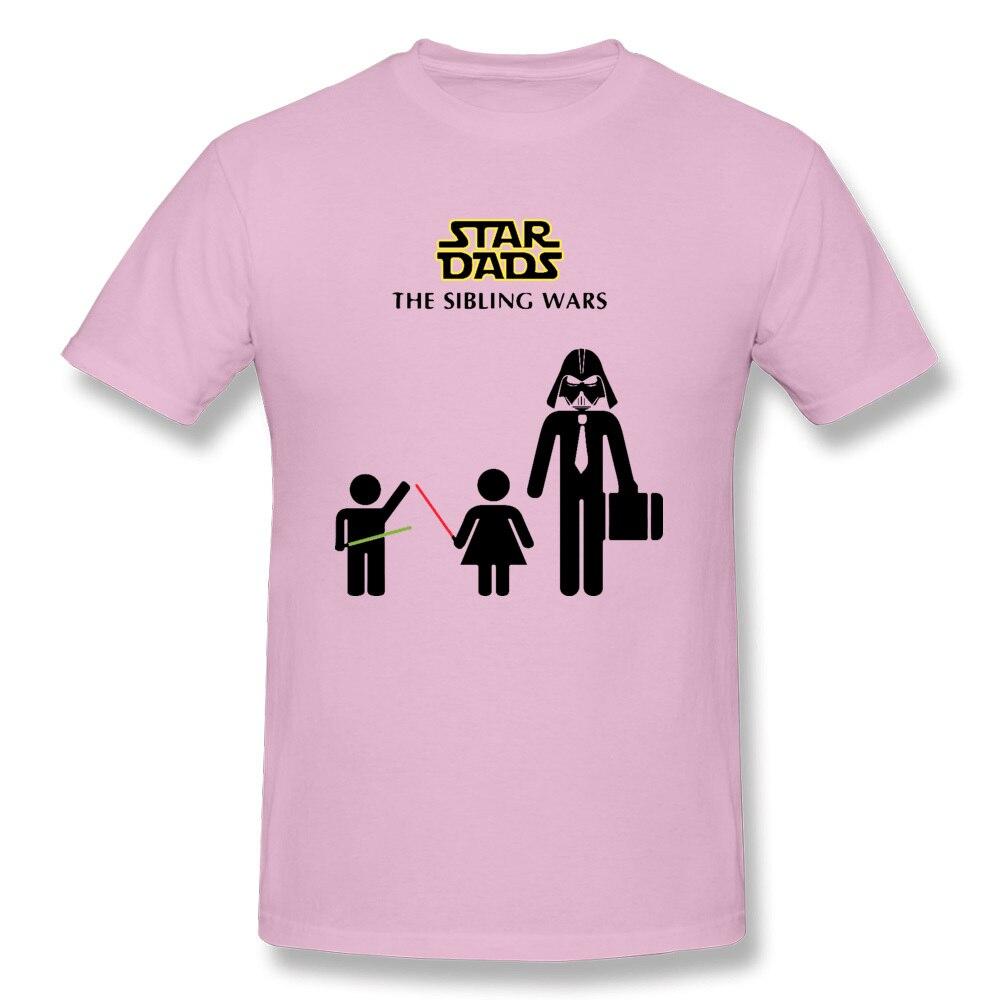 Star-Dads-The-Sibling-Wars-Darth Slim Fit Summer 100% Cotton Crewneck Mens Tops & Tees Clothing Shirt Prevailing T Shirts Star-Dads-The-Sibling-Wars-Darth pink