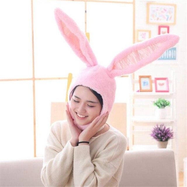 Плюшевая Шапка с ушами кролика 2