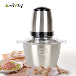 ITOP Meat Grinder Multifunction 2L Stainless Steel Electric Home Cooking Machine Meat Mincer Sausage Machine 220V AU/UK/EU Plug