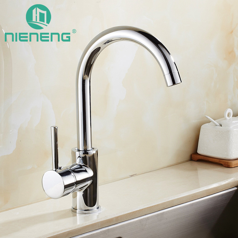 Nieneng Brass Polished 360 Swivel Kitchen Faucets Accessories With Water Filter For Hot Cold Rotation Mixer