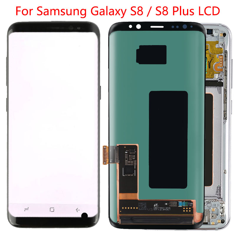 Original Amoled S8 LCD For Samsung Galaxy S8 Plus LCD Screen Frame Display Assembly SM-G950F G955F LCD Display With Black Dot