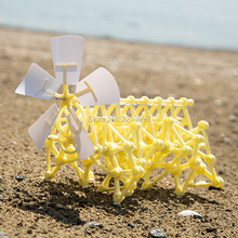 Drop Shipping DIY 3D Puzzle Wind Power Beast Walker Powered Walking Strandbeest Assembly Model Kits Robot Toys For Children Gift