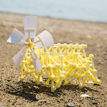 Drop Shipping DIY 3D Puzzle Wind Power Beast Walker Powered Walking Strandbeest Assembly Model Kits Robot Toys For Children Gift(China)