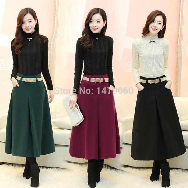 Tea Length a Line Skirt