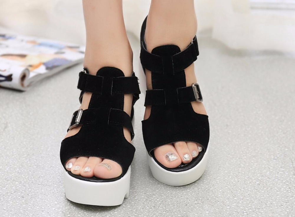 2019 Summer Sandals Shoes Women High Heel Casual Shoes footwear flip flops Open Toe Platform Gladiator Sandals Women Shoes m693