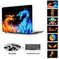 Modelo Firedragon Crstal Caso Duro Para Macbook Pro 13 15 Retina display impresión de la Cubierta Transparente Para Mac Air 13 11 Pro 13 15 No Retina