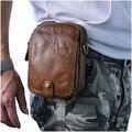 Retro Cinto Pacote de Cintura Saco de Viagem Dos Homens de Couro Genuíno Bolsas Carteira Bolsa Telefone + Homens Bolsa