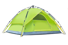 3-4 person 210*210*150cm quick automatic opening Double layer weather resistant outdoor camping tent for fishing, hunting