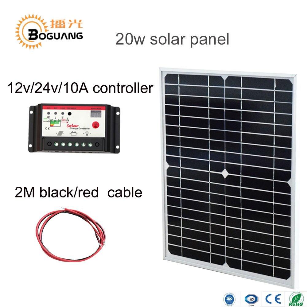 Boguang 20 Вт 18 В монокристаллические солнечные панели модуль системы cell 12 В DIY комплекты для игрушек с подсветкой науки игрушка эксперимент отк…