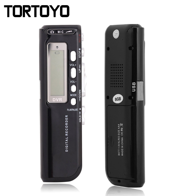 Smart Professional Portable Mini 8GB HD Digital Voice Audio Recorder MP3 Player Sound Recording Pen Noise Reduction Built in Mic