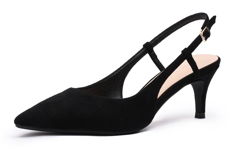 Woman's Spring 6cm Thin High Heels Slingbacks 10