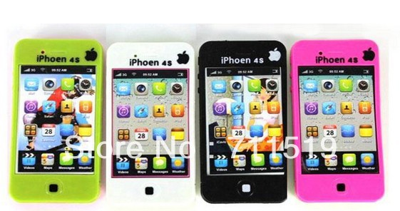Toy Phone Kids Phone New Education English Learning Mobile Black or White