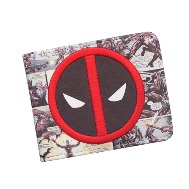 New Designer 2018 DEADPOOL WALLET Student Comics Cartoon Wallet & Purse ID Credit Card Holder Leather Bag Cool Wallet For Men pixels pacman wallet 3d embossing short purse for student boy girls slim silicone wallet game cartoon designer wallet billeteras