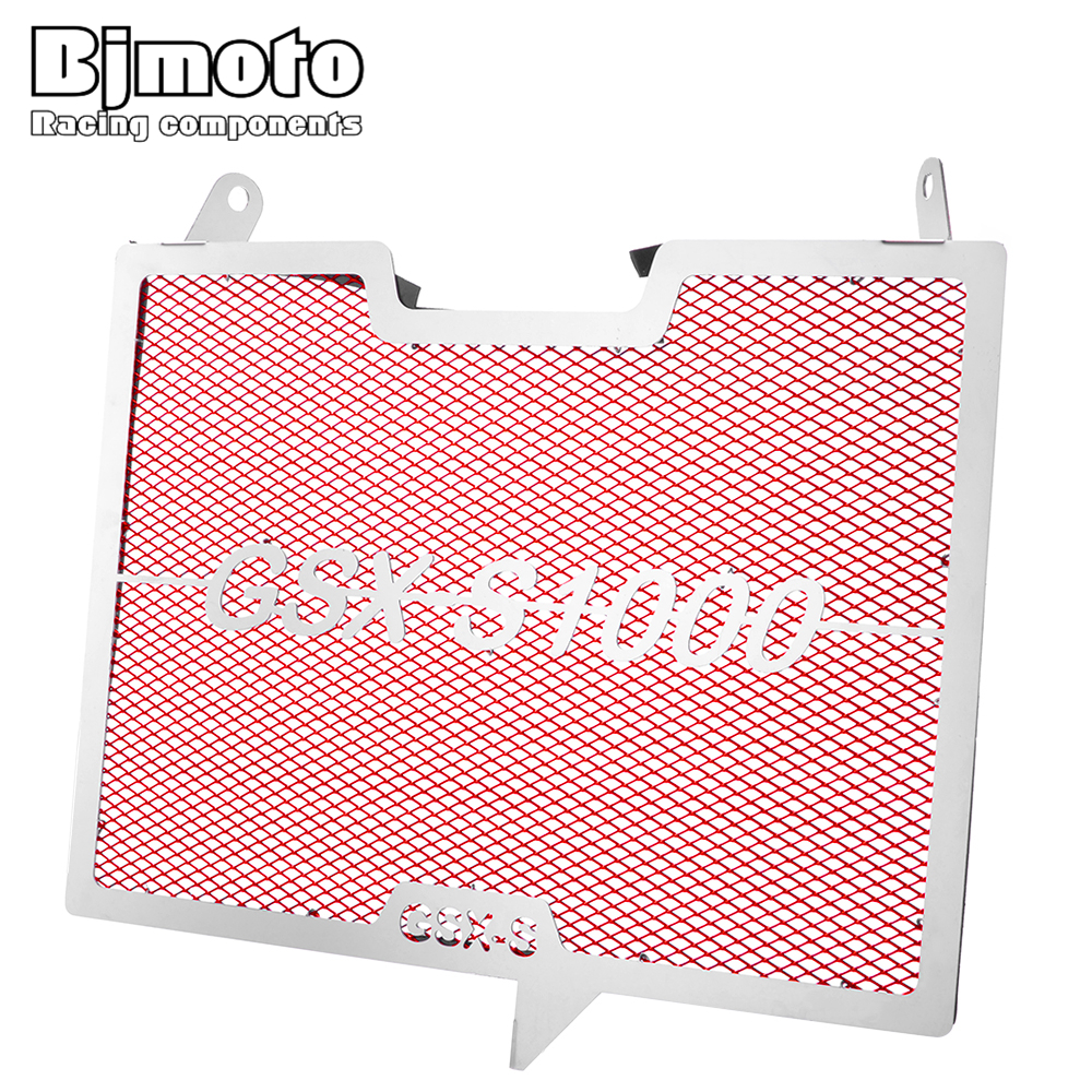 BJMOTO Motorcycle Stainless Steel Radiator Grille Grills Guard Cover Protector For Suzuki 1000 GSX S