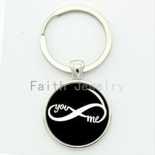 Infinity symbol key chain romantic you and me keychain vintage charm design men jewelry personalized geek boyfriend gift KC436