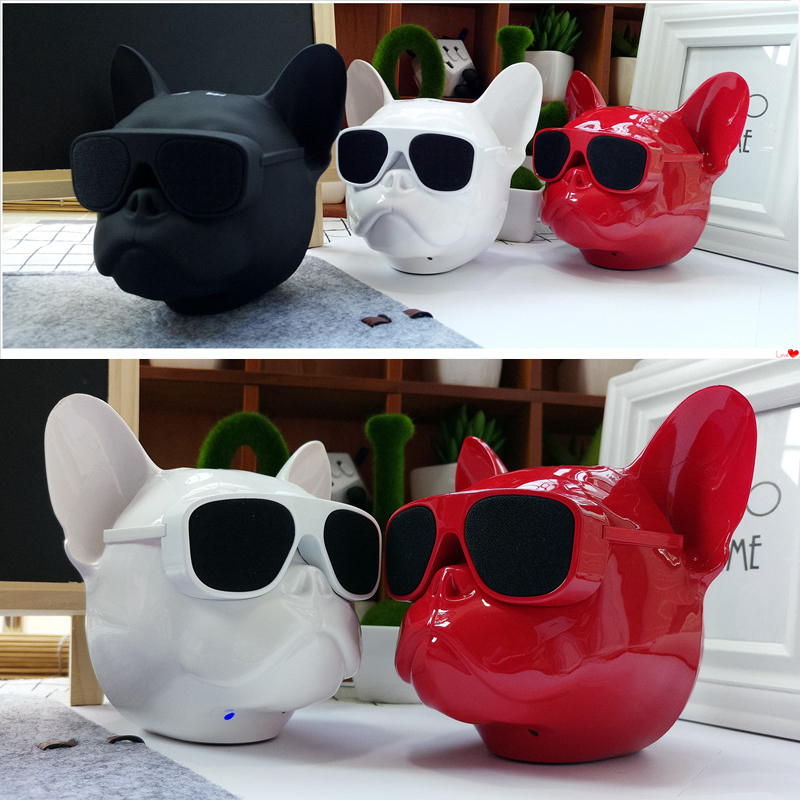 Hot Sale Wireless Speaker New Bulldog Bluetooth Speaker Portable Stereo Super Bass Cartoon Sound Subwoofer Speaker