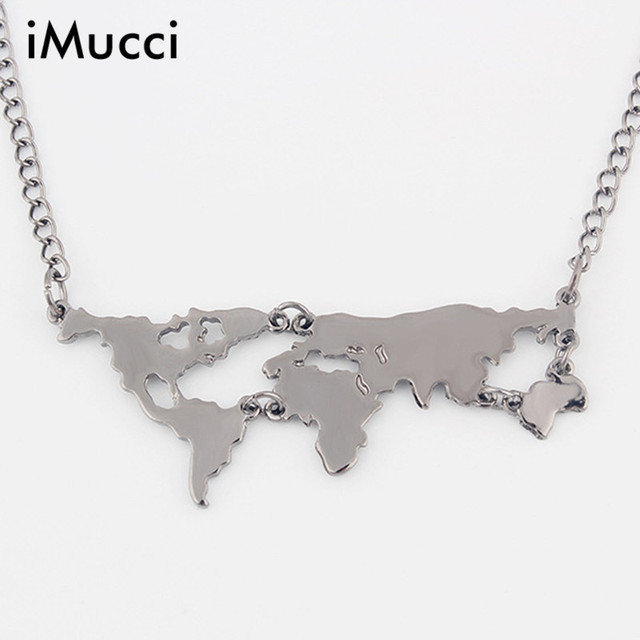 Aliexpress buy imucci fashion gold color world map pendant imucci fashion gold color world map pendant necklace women jewelry europe trend of flow torque world gumiabroncs Image collections