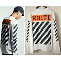 OFF WHITE Striped Long Sleeve T-shirt Hip hop Streetwear Oversized Crossfit Tee shirt Men Cotton Camisetas Hombre 2017 S-XXXL