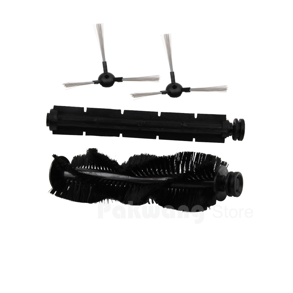 XR510 Robot Vacuum Cleaner Spare Parts : Side Brush Rubber Brush Hair Brush upgraded side brushes for robot vacuum cleaner xr510 xr210 original spare parts replacement for robotic cleaner 10 pcs pack