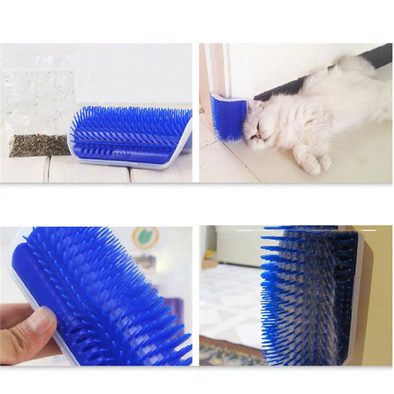 Cat Brush Groomer Attachable to Wall Corners