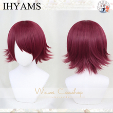 IHYAMS EXUSIAI From Game Arknights Short Red Shaggy Layered Synthetic Cosplay Costume